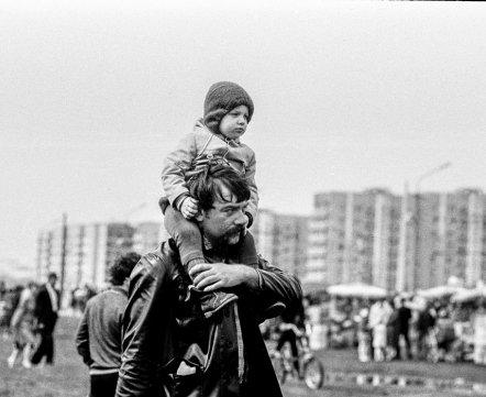 Фотошот. Как жители Серебрянки праздновали День Победы – ровно 33 года назад