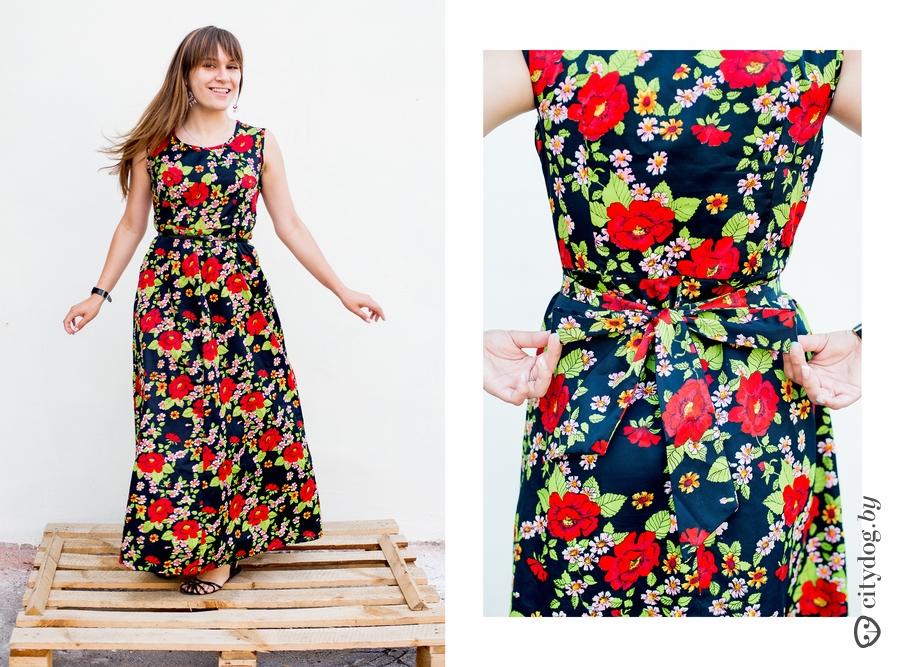 Цветастое платье сшить