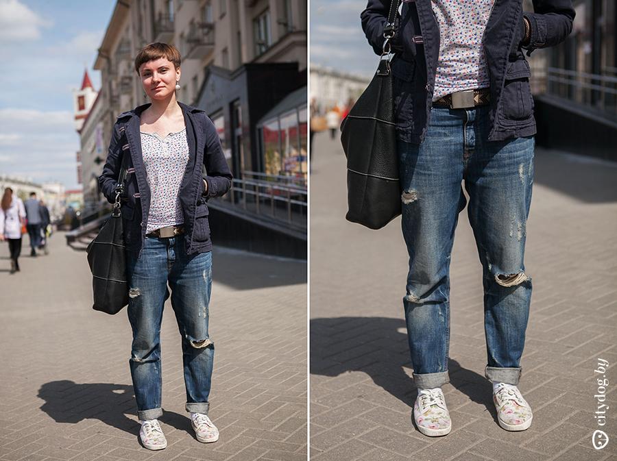 Терлась на парне через джинсы